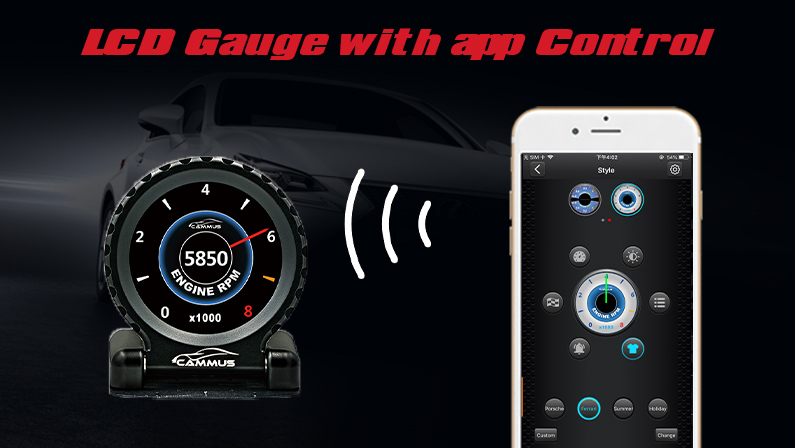 Cammus Round LCD Gauge To Come With the Powerful App Control Feature